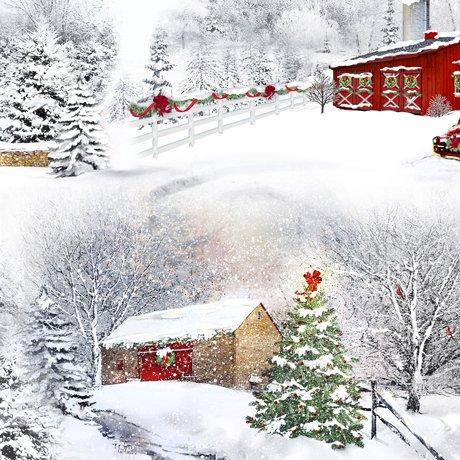 Holiday Back Home 27698-K Scenic Barns