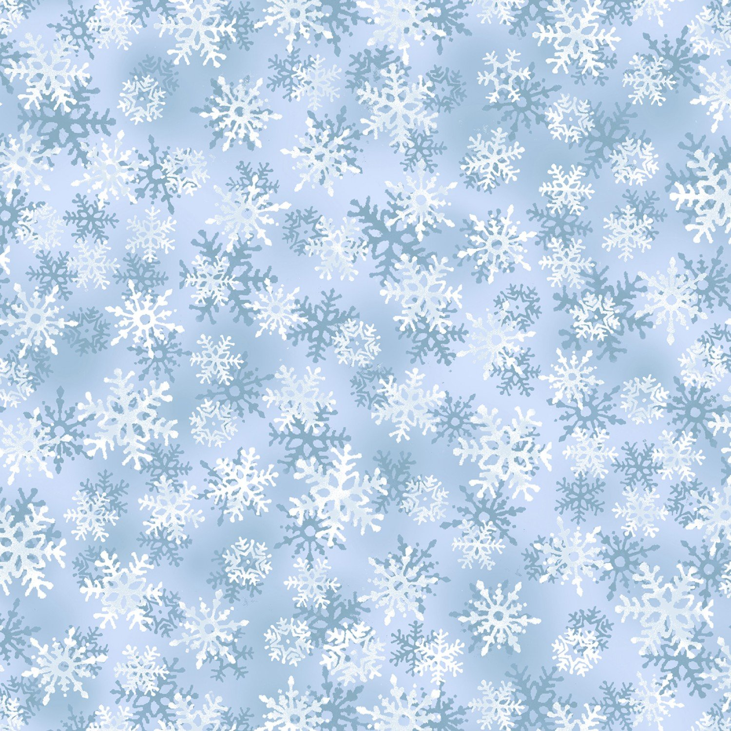 Holiday C6970 Blue Snowflakes