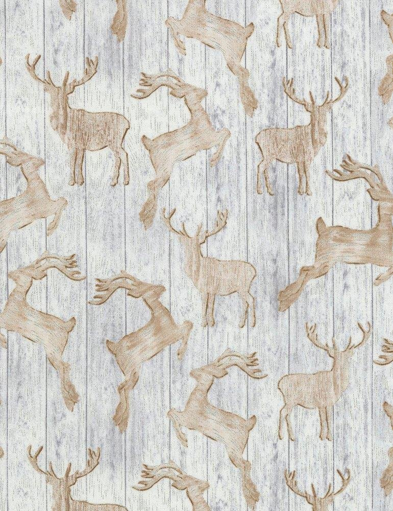 Holiday CM5167 Wooden Deer Silhouettes Grey
