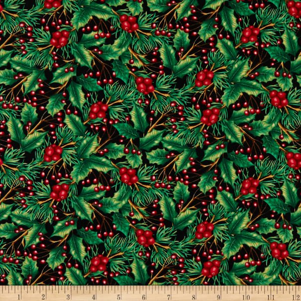 Holiday Holly 2476-99 Black