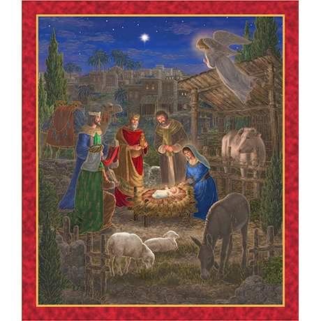 Holy Gathering Nativity Panel 24601 X