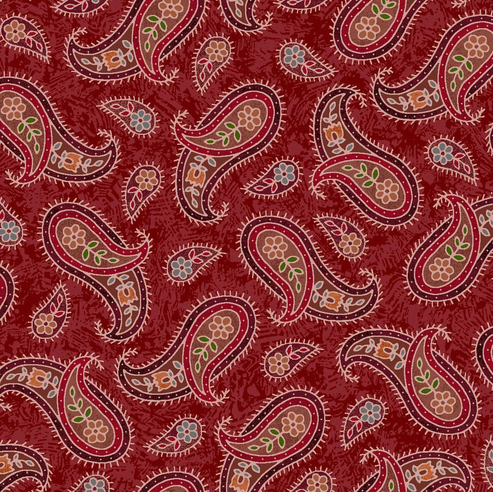 Horse Play 60-12801 Red Paisley