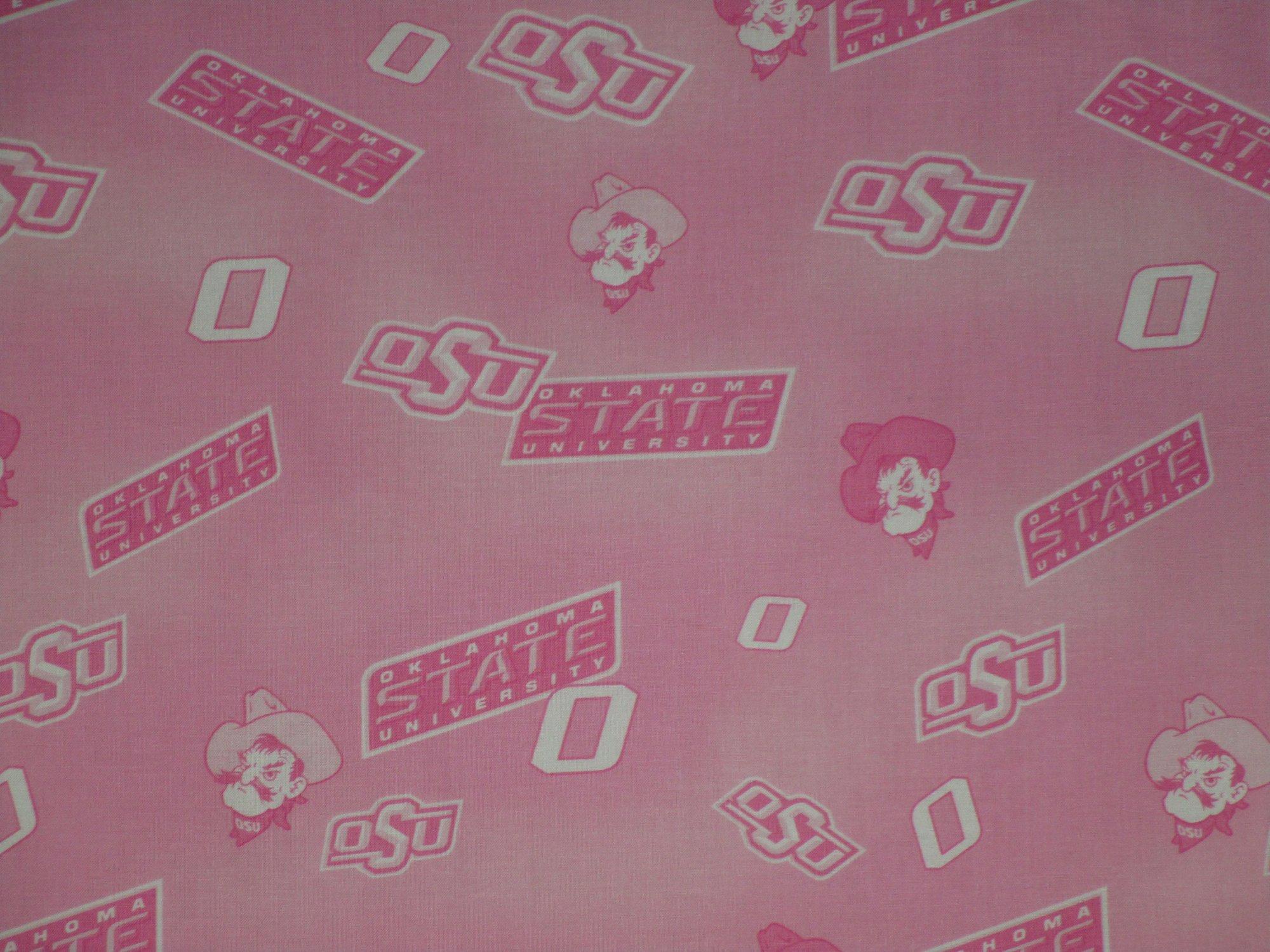 *EOB* NCAA Oklahoma State Cowboys 128 Pink - 0.56 YD