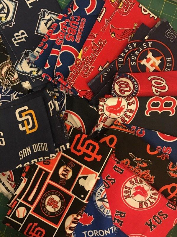 Grab Bag #2373: MLB Logo Fabric