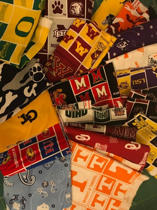 Grab Bag #2373: NCAA College Logo Cotton Fabric