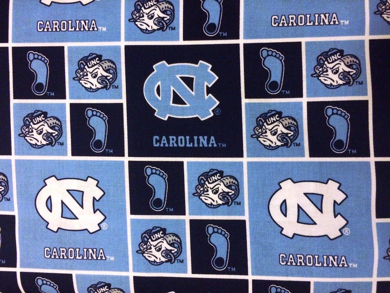 NCAA North Carolina Tarheels 020 Block Blue & White