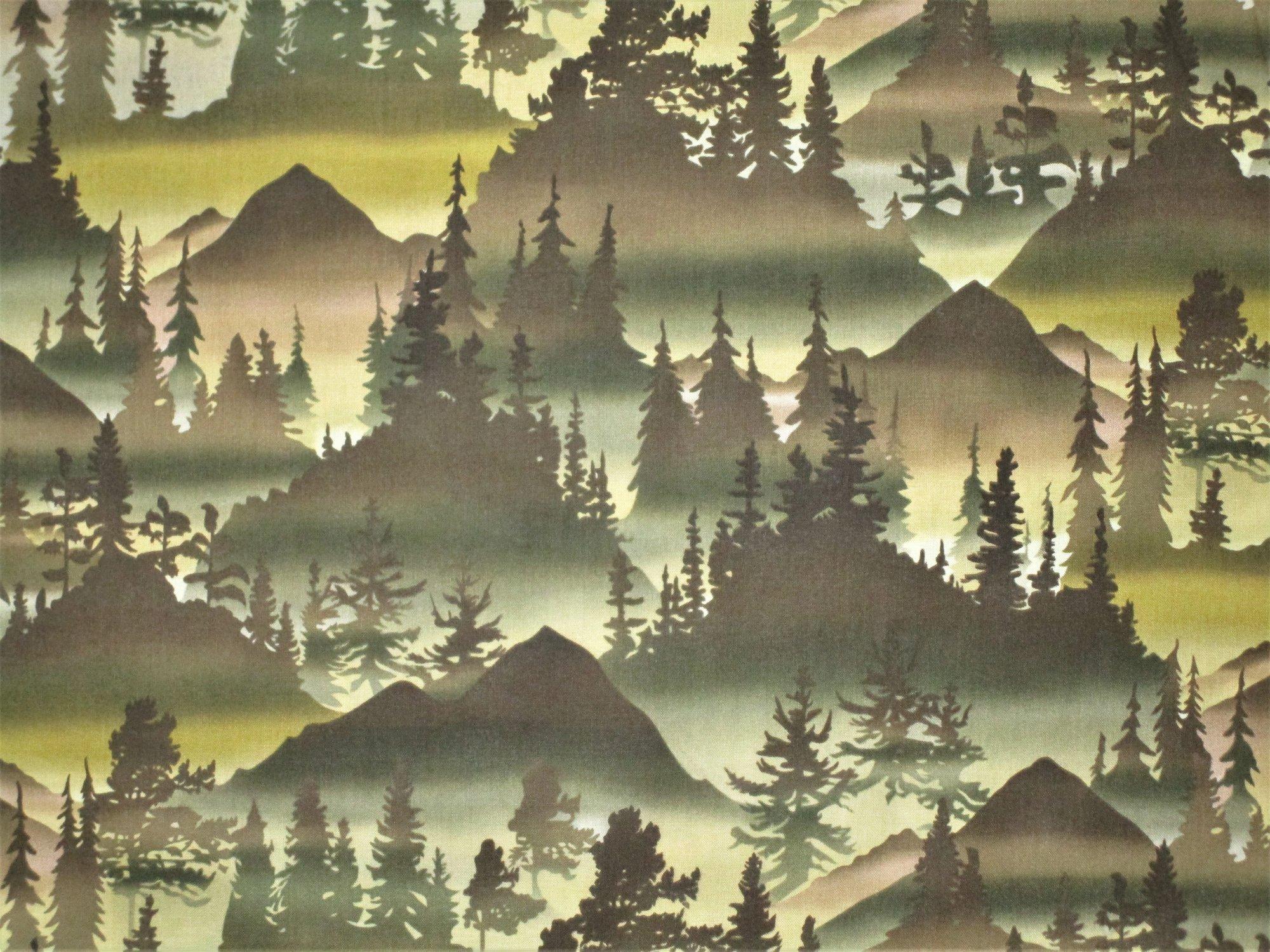 Pine Forest Silhouettes C5578 Oregano