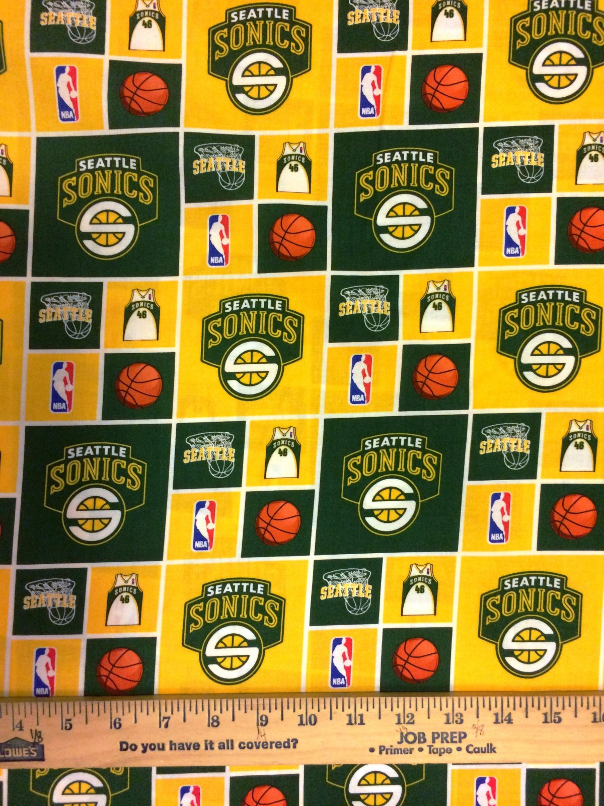 END OF BOLT NBA Seattle Supersonics 020 Block - .50 YD