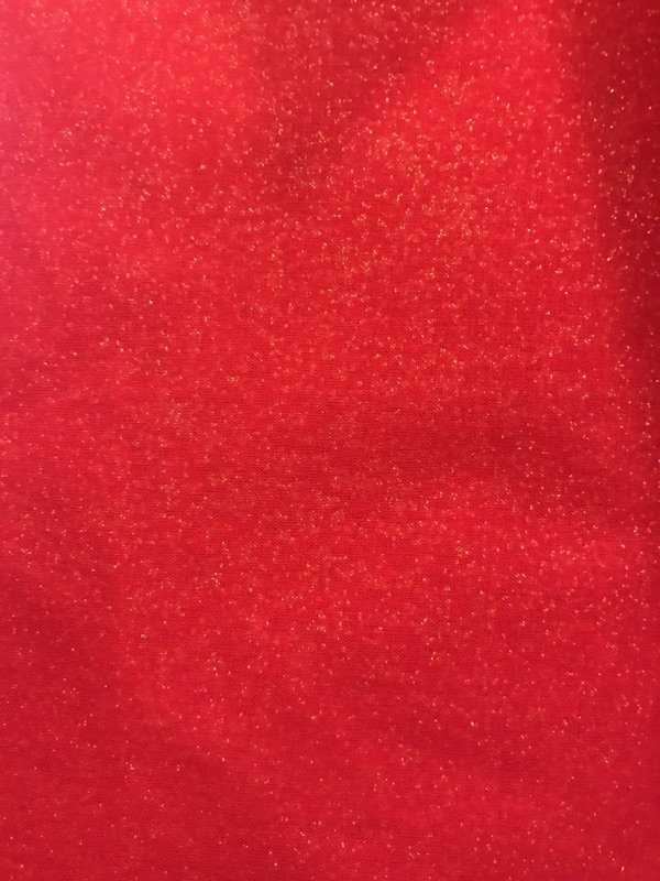 END OF BOLT Holiday Metallics 45901 Gold Glitter on Red - .52 YD