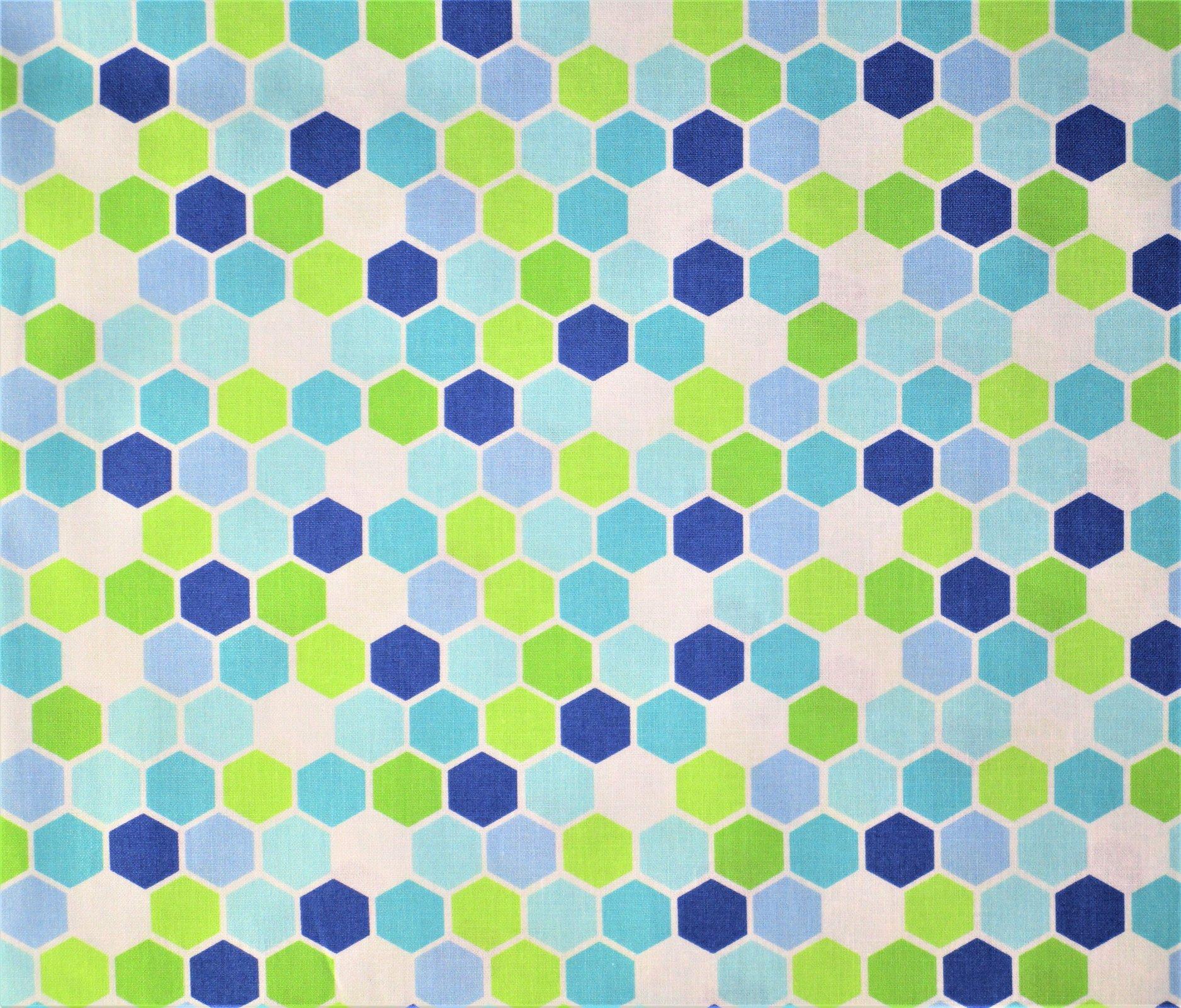 Brighten Up 22287-21 Cool Hexagons