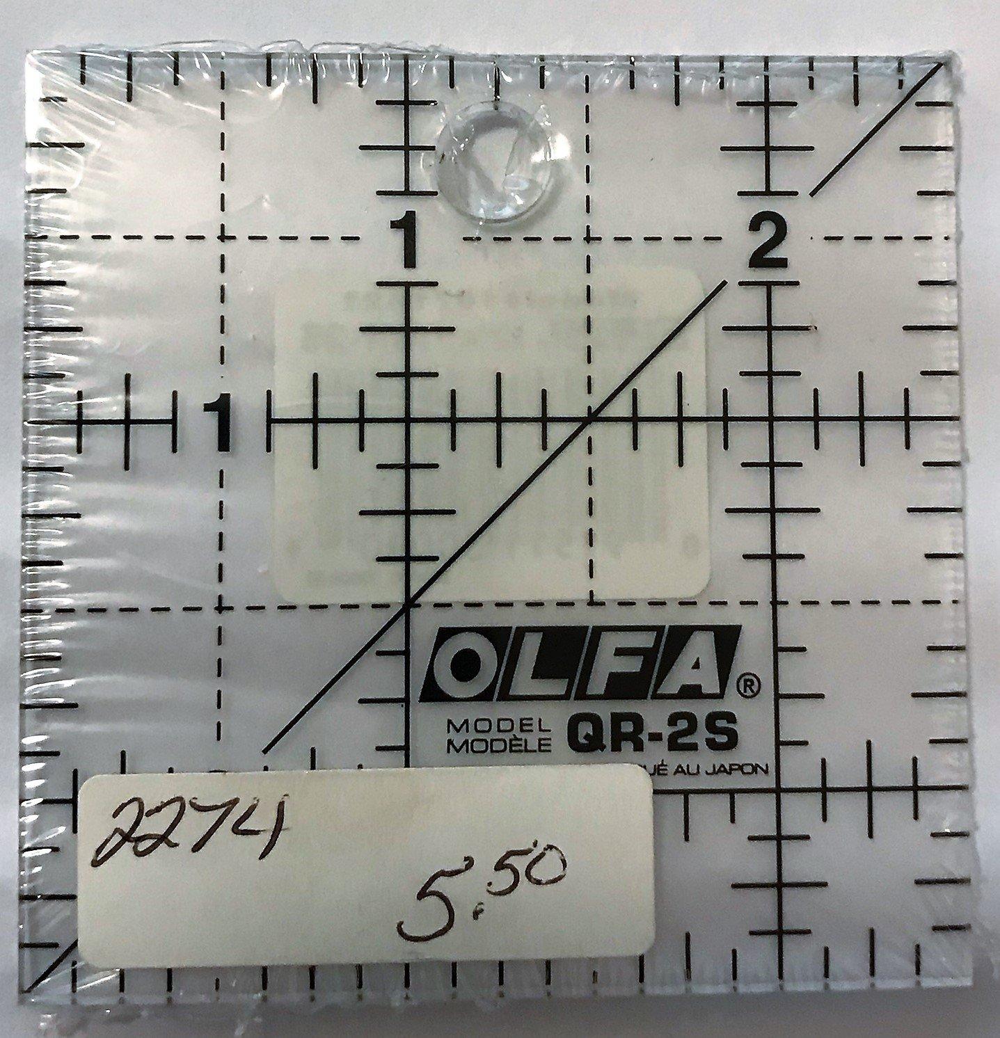 OLFA 2.5X2.5 Square Non-Slip Ruler #1071821