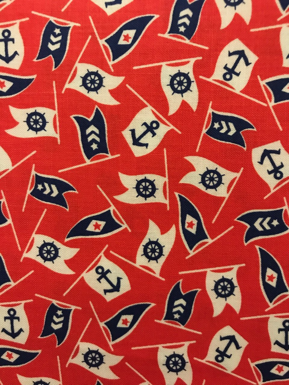 Bon Boyage 42864-3 Nautical Flags Red
