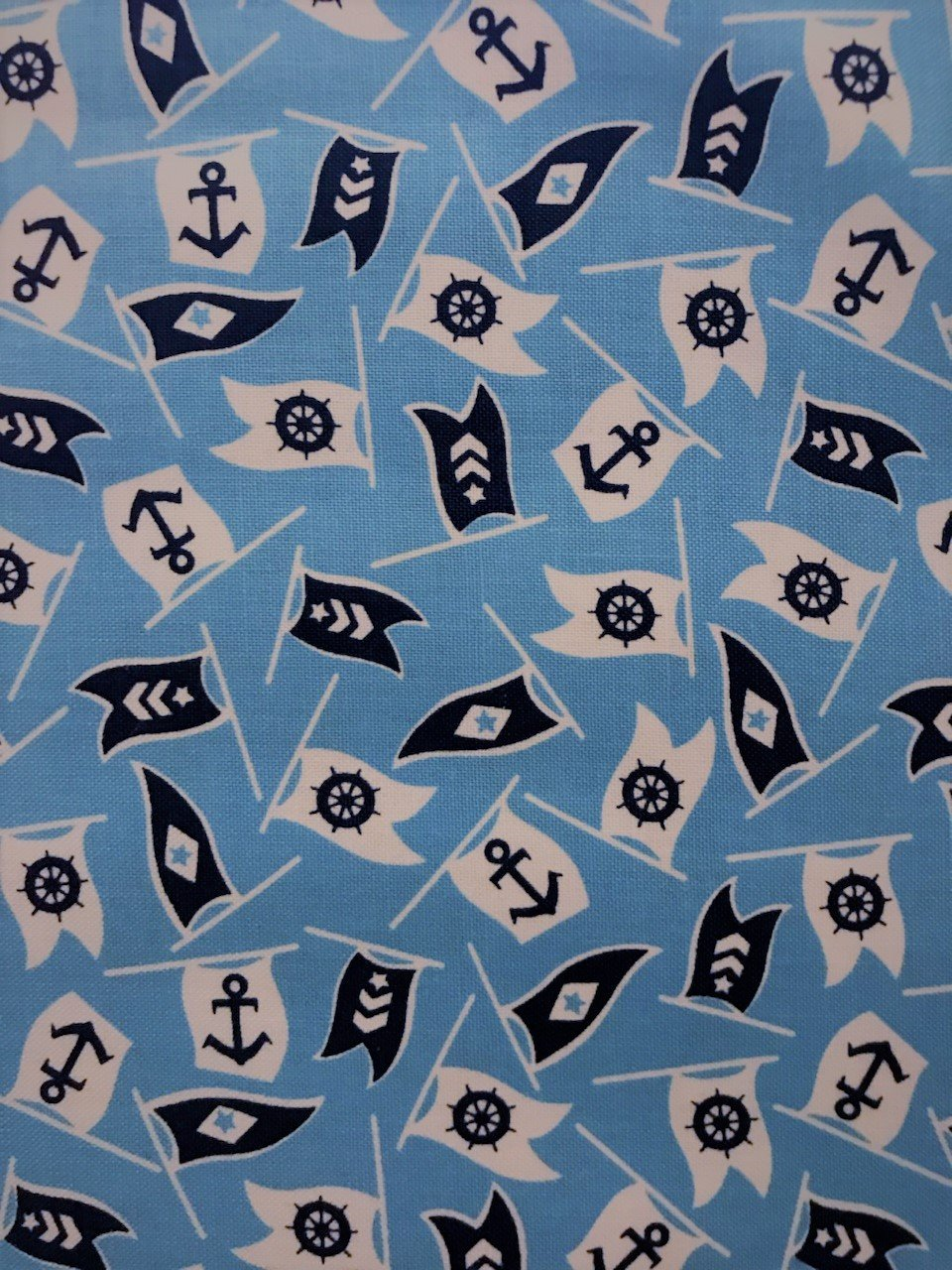 Bon Boyage 42864-4 Nautical Flags Blue