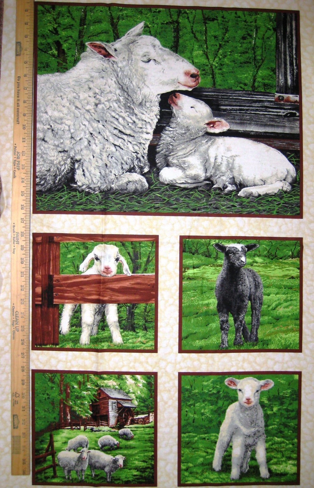 Lamb & Sheep Meadow 61321-9 Panel