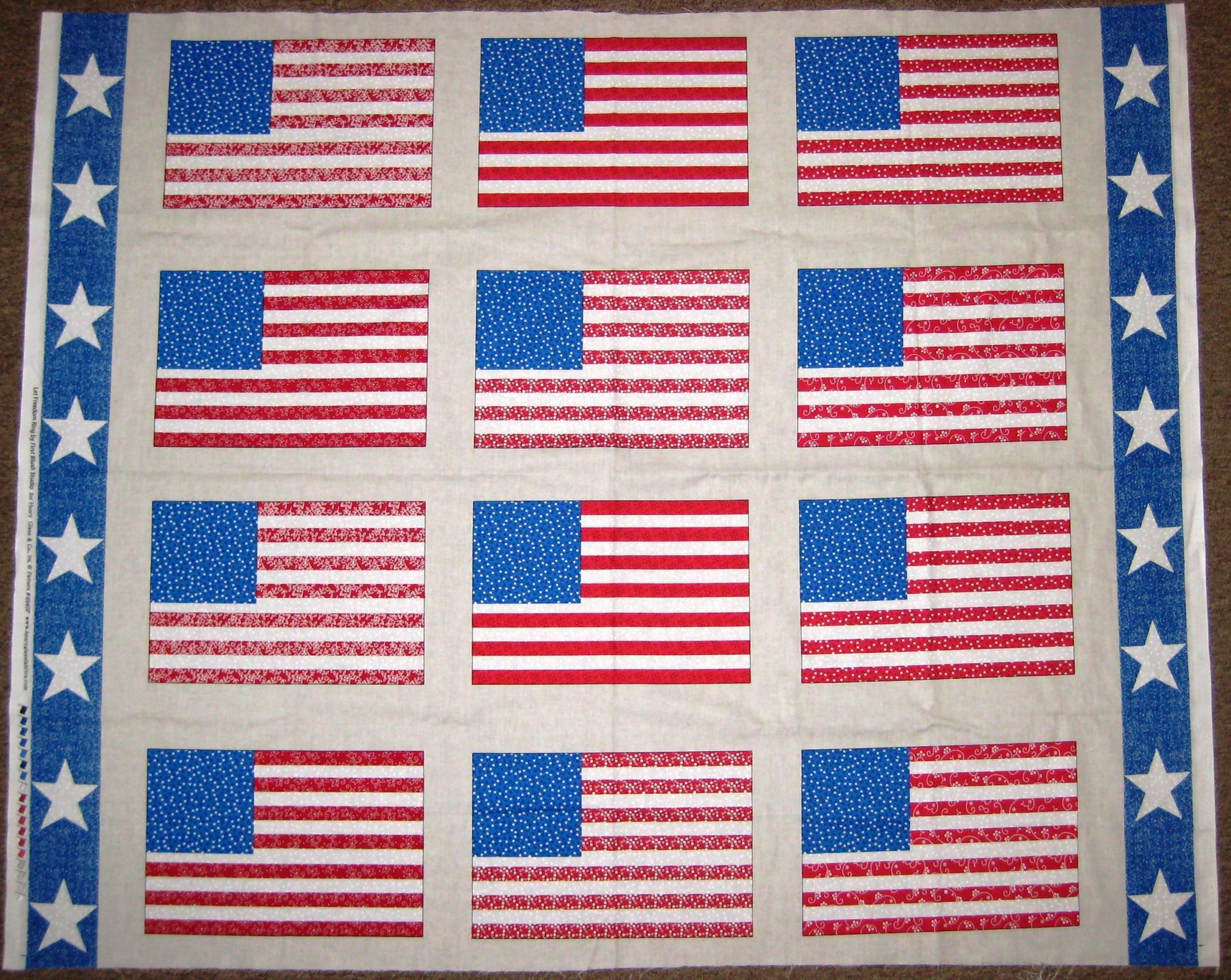 Let Freedom Ring Flag Panel 9940P-87