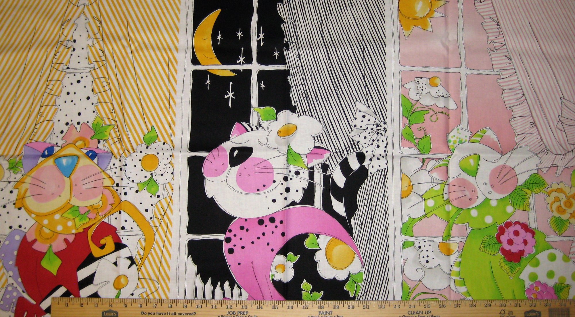 Calico Cats Window Panel 692-196