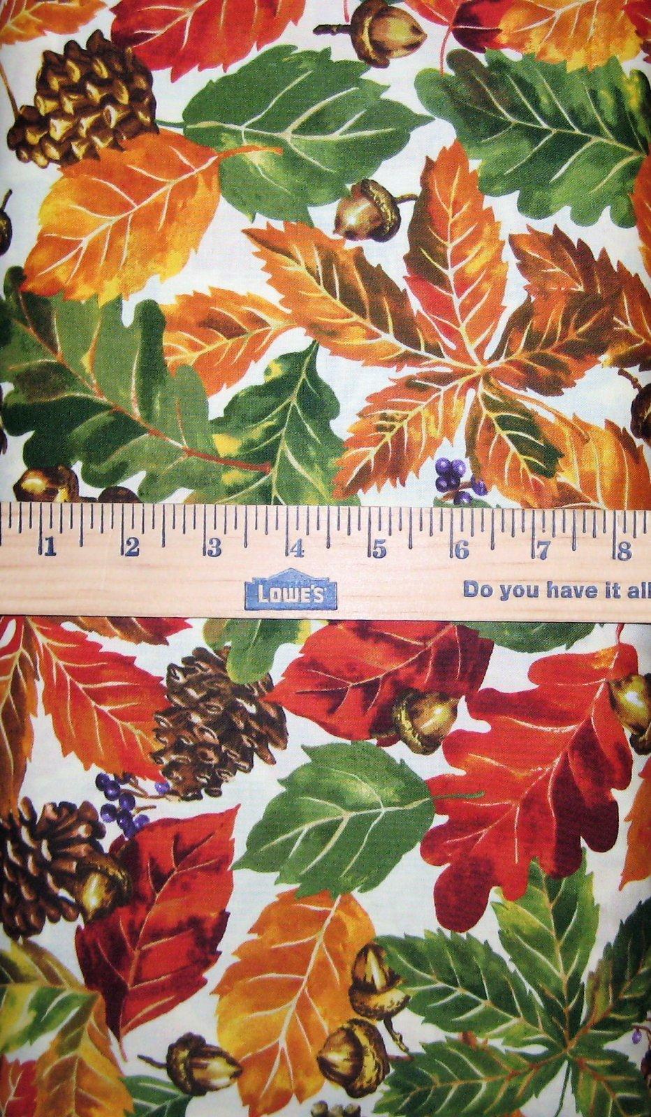 Fall Retreat Leaves 112-30242 Ecru