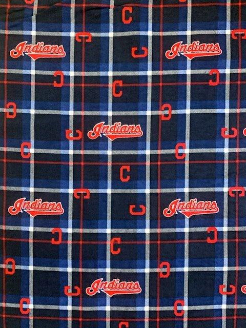 MLB Logo Cleveland Indians 60073 FLANNEL 45