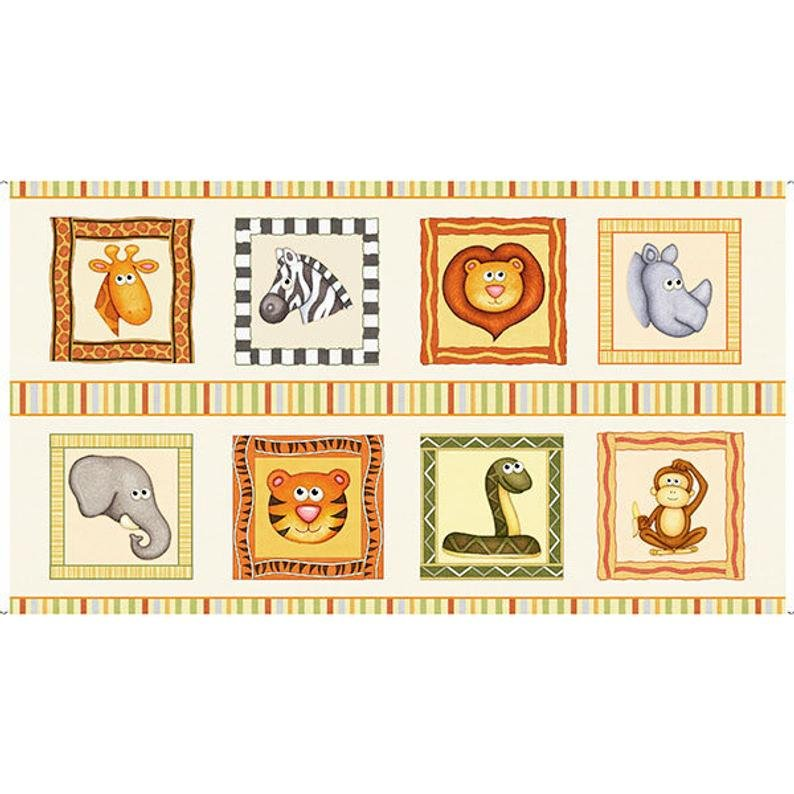 Jungle Buddies 26411-E Cream Panel