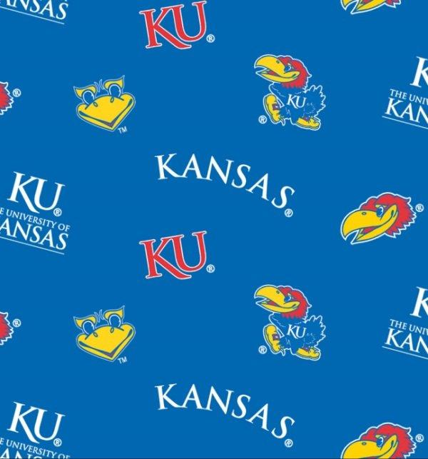 END OF BOLT - NCAA Kansas Jayhawks 045 Blue .31 YD