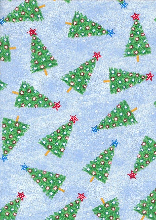 Tis the Season 49692 Christmas Trees Blue