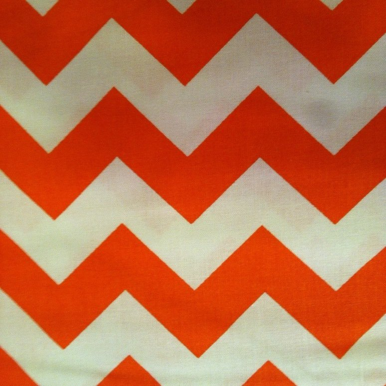 Large Chevron Orange & White 8694A