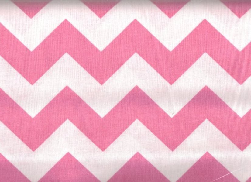 Large Chevron Pink & White 8694A