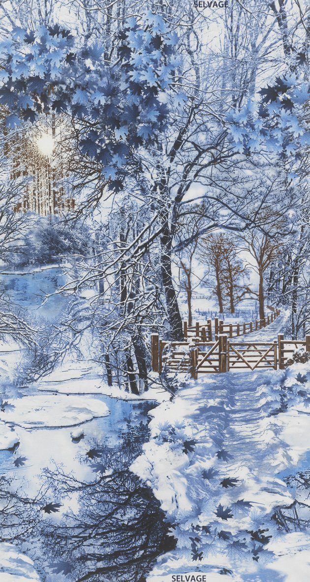 Large Scale Winter Scenic C4629