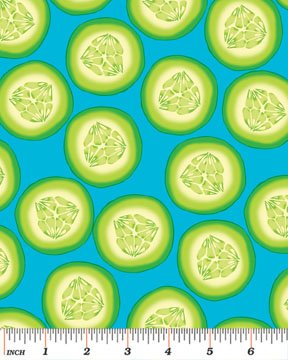 Cucumber Slices 6412-80 Blue