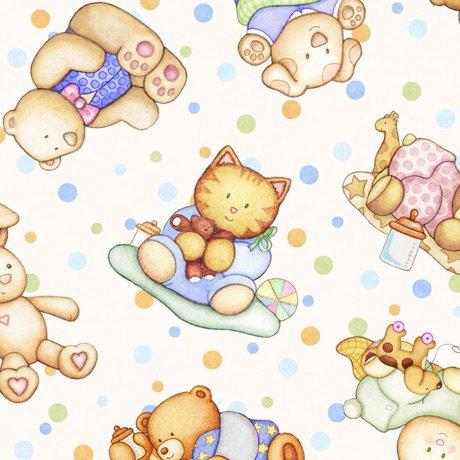 Lullaby 27901-E Animal Babies Cream