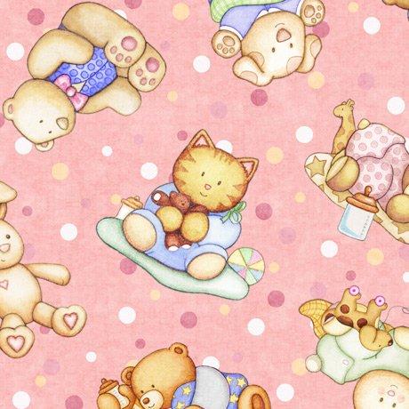Lullaby 27901-P Animal Babies Pink