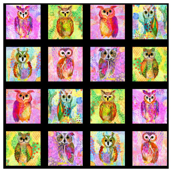 Majestic Owls 164 Watercolor 39 X 44 Panel