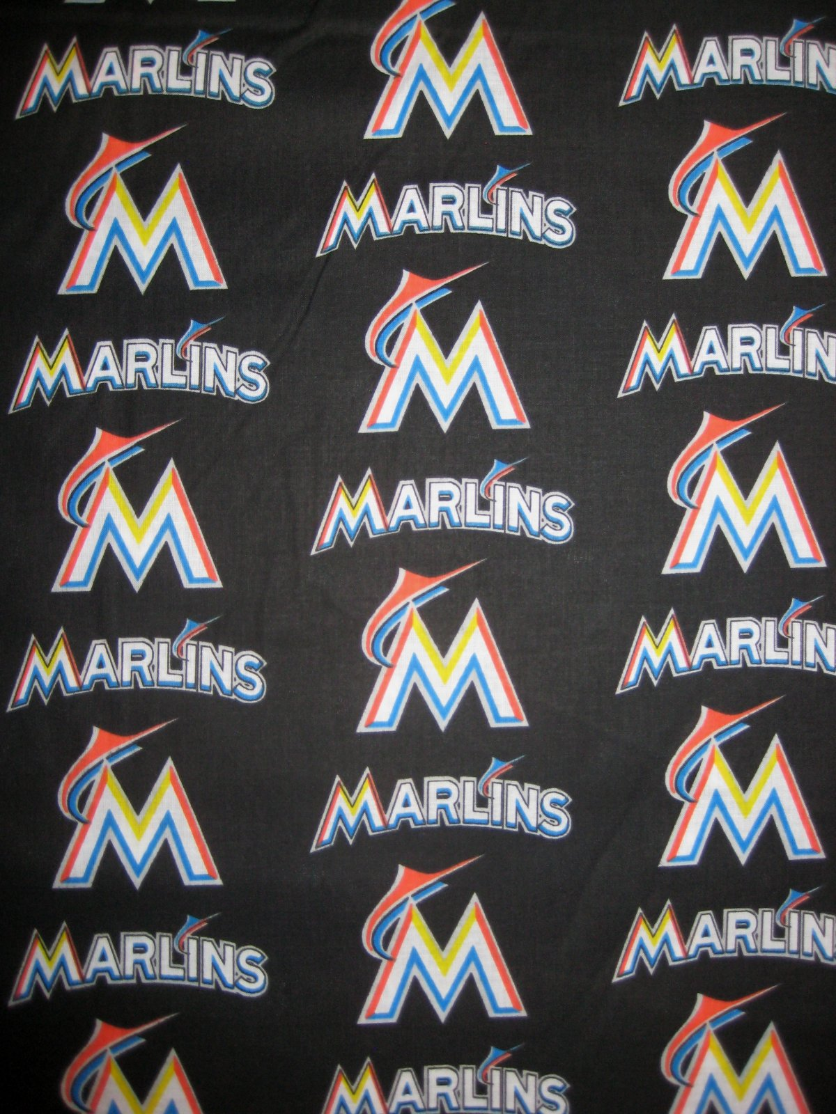 MLB Logo Miami Marlins 6686B Black