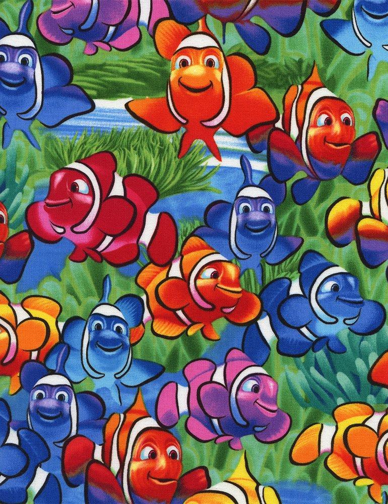 END OF BOLT Clownfish C1824 Multi  - .49 YD