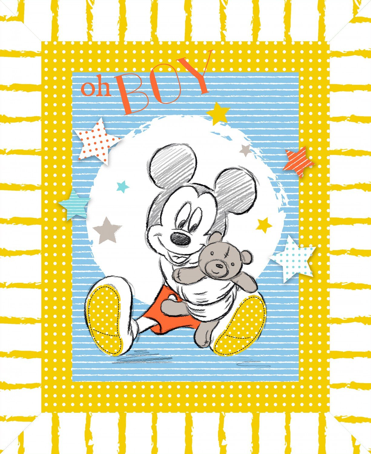 Mickey Mouse Oh Boy Panel 57855