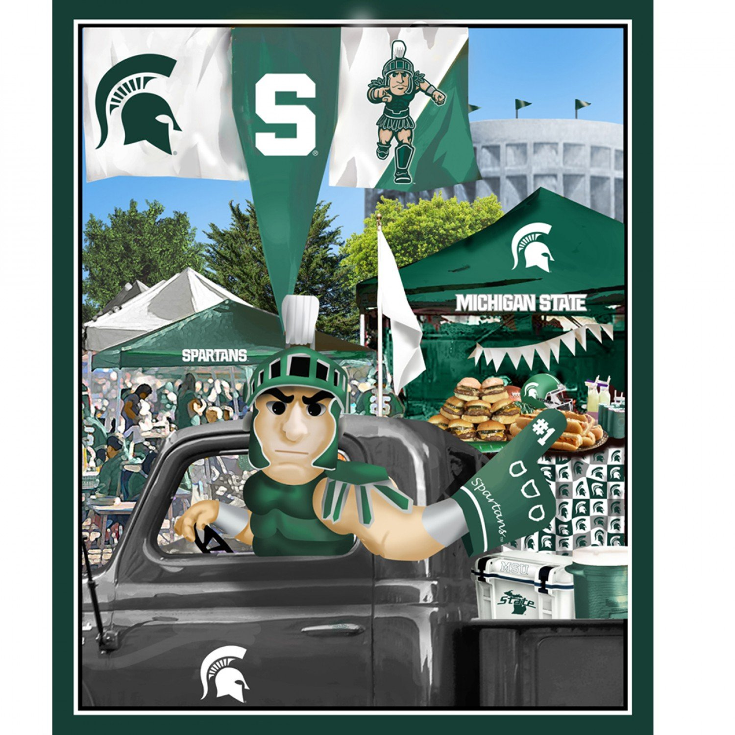 *FLAWED NCAA Michigan State Spartans 1157 Panel