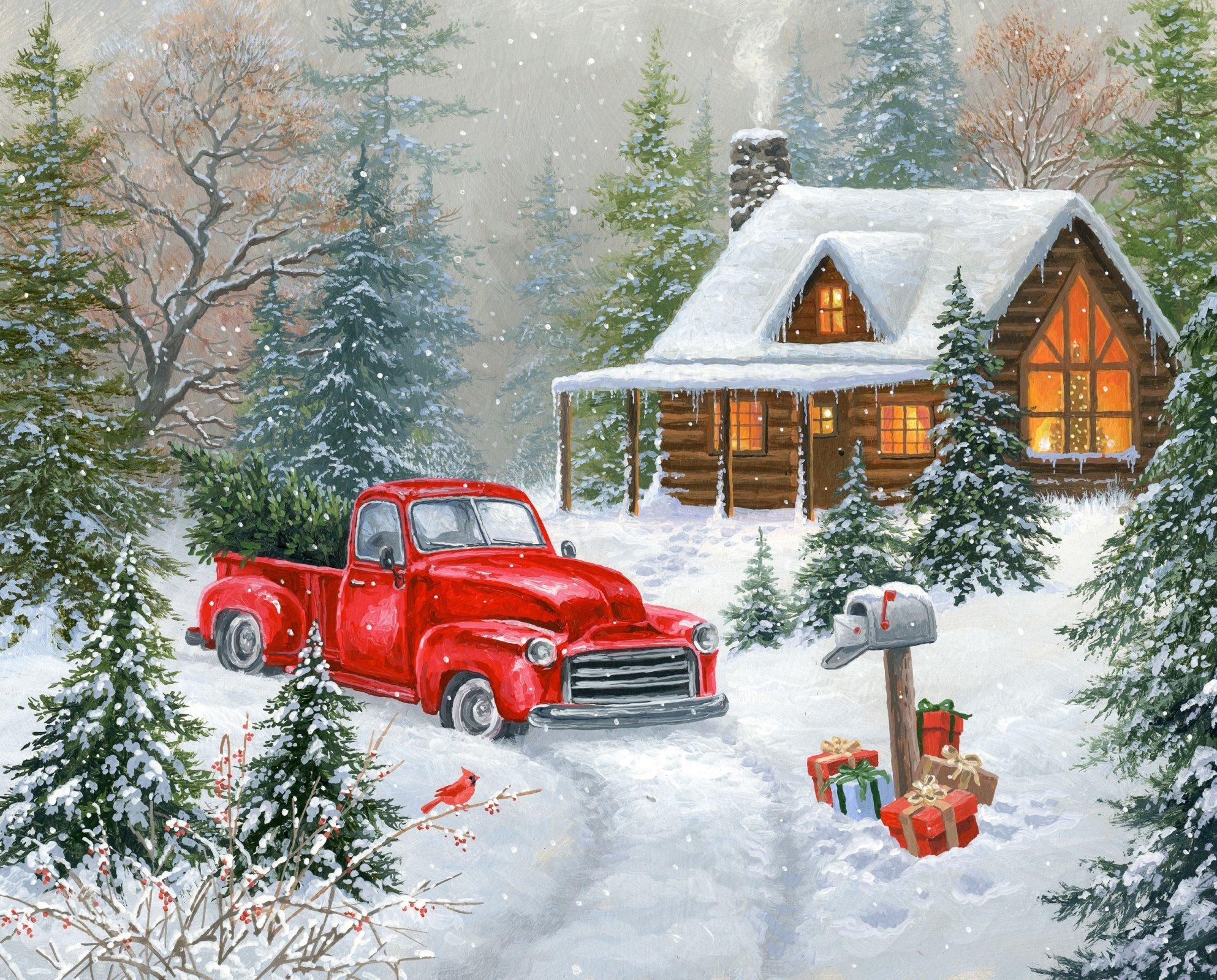Christmas Tree Cabin 3195 Panel