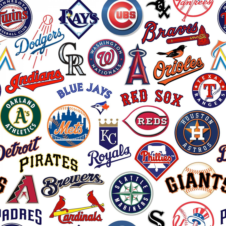 MLB All Teams 60058-B White Digital 45 Print