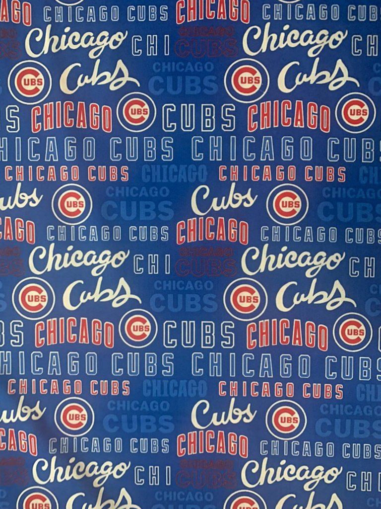 MLB Logo Chicago Cubs 60311 RWB Text 45