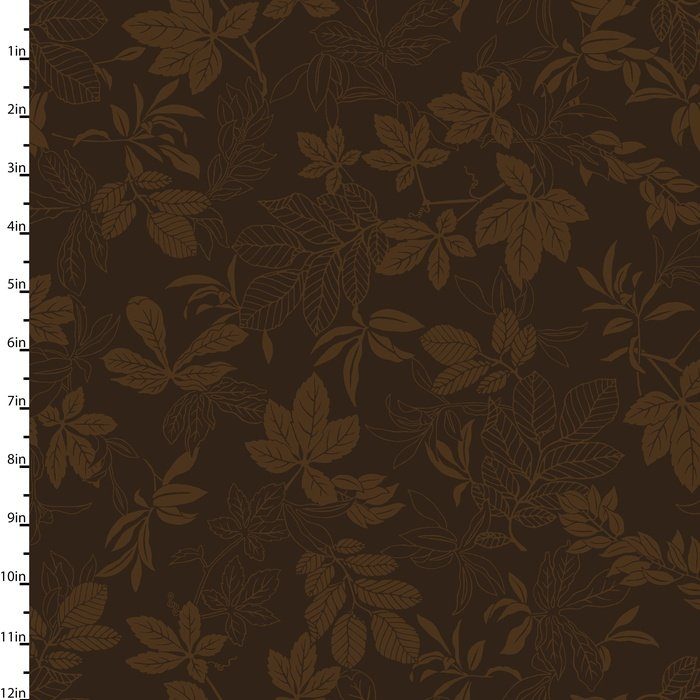 Modern Leaf Chocolate Brown 2872-38