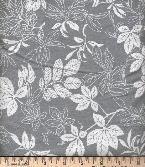 Modern Leaf White on Shadow 2872-91