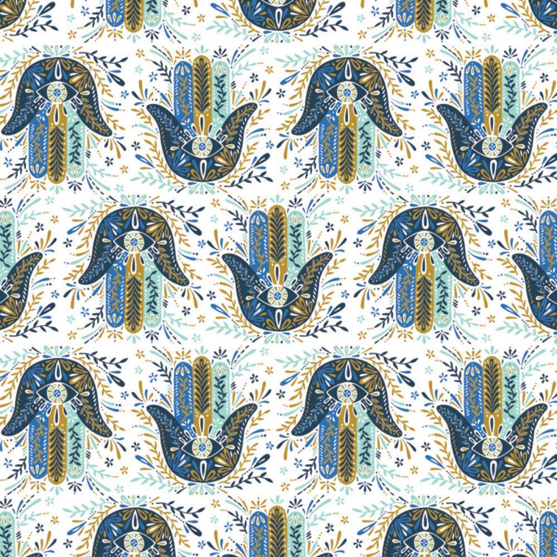 Moroccan Nights Hamsa Hands 86190204 Blue