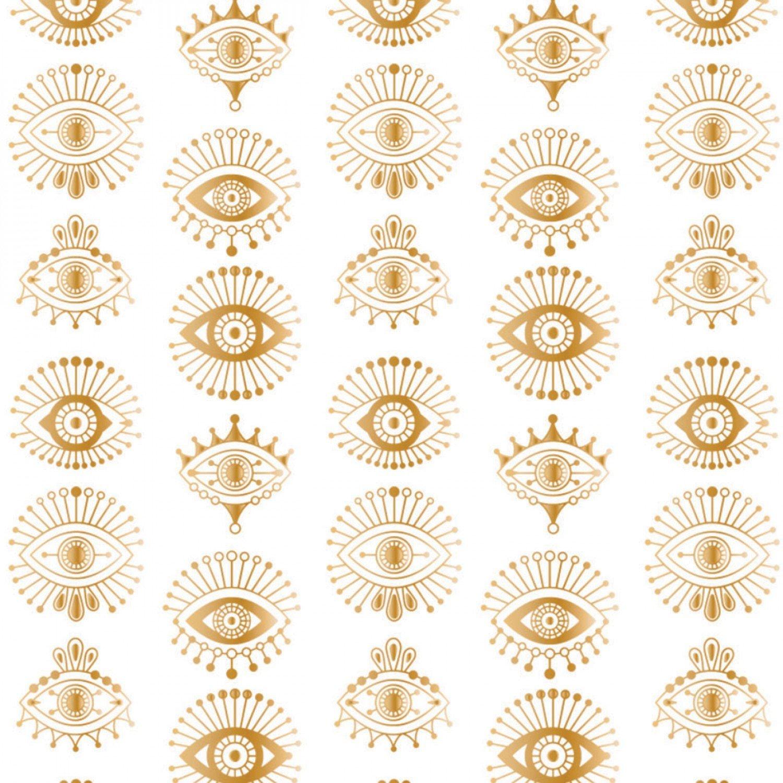 Moroccan Nights Metallic Eyes 86190205L-1 White
