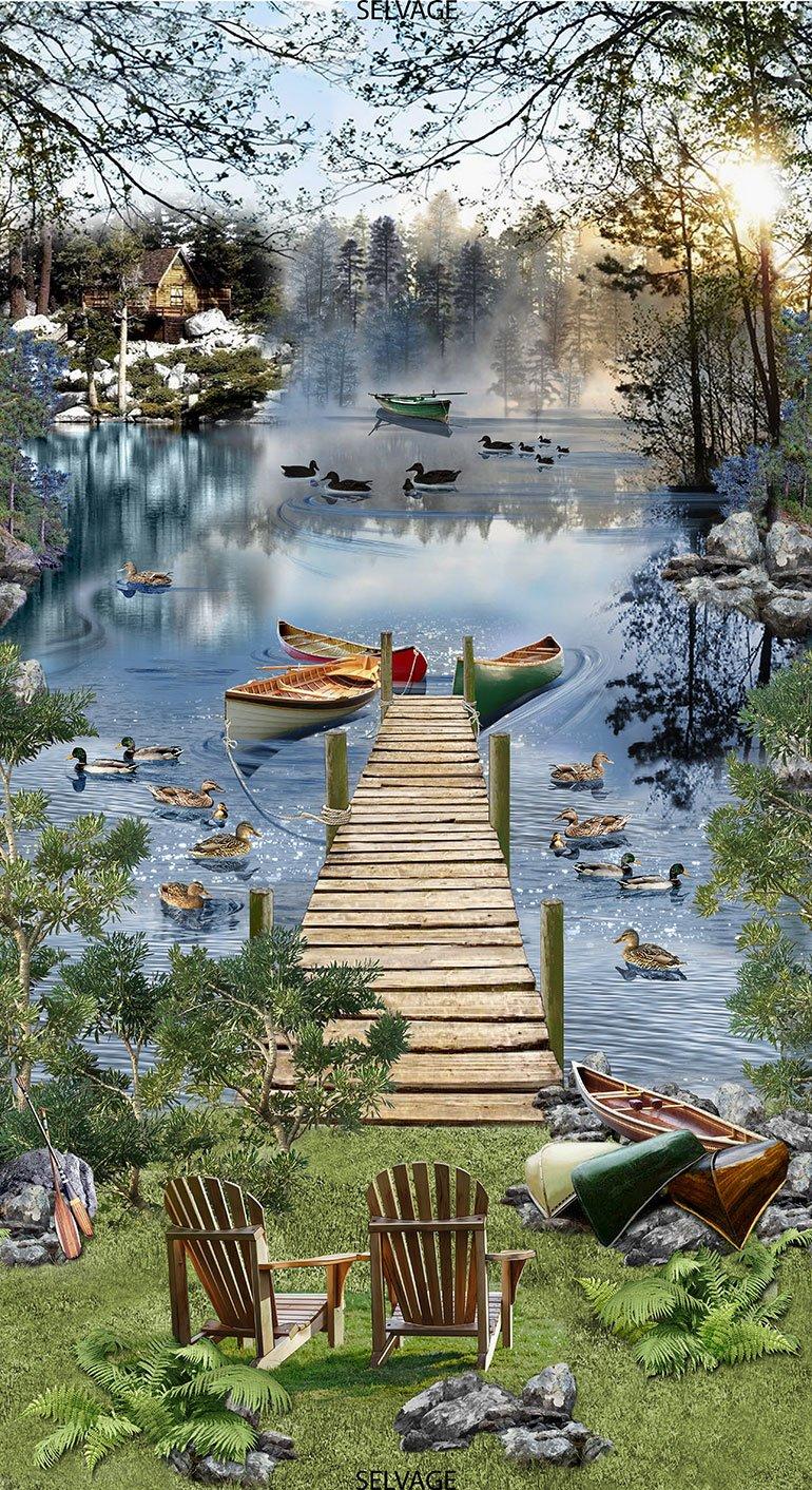 Lake C6402 Dock Scenic Panel