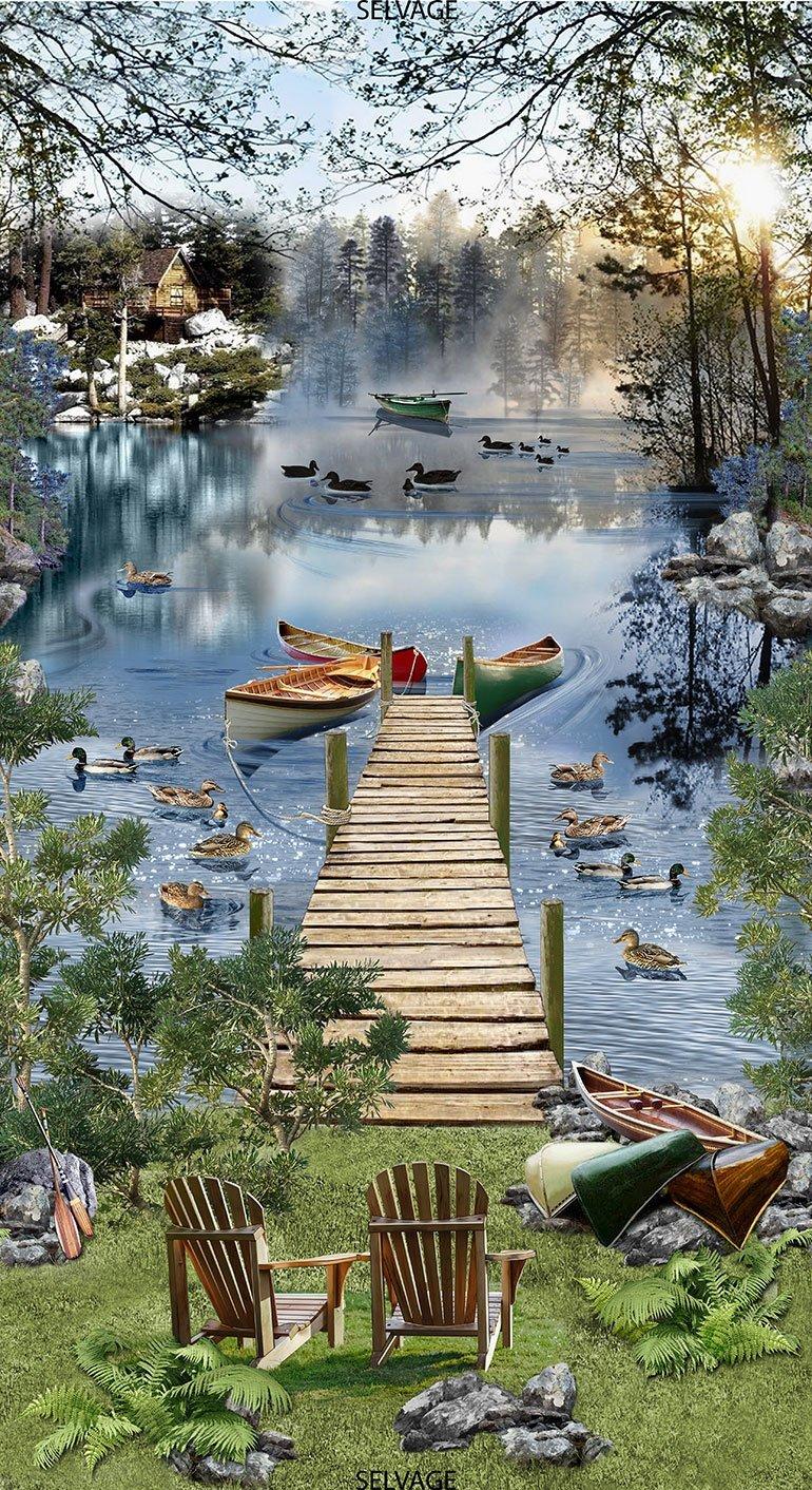 FLAWED Lake C6402 Dock Scenic Panel