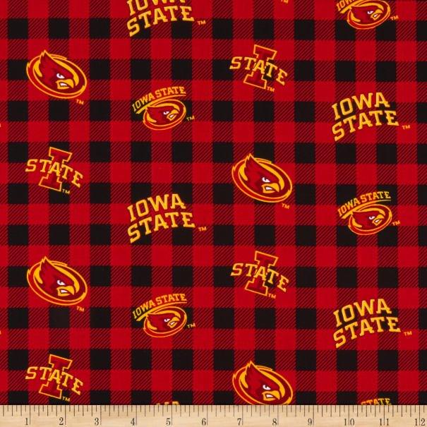 NCAA Iowa State Cyclones 1207 Buffalo Plaid