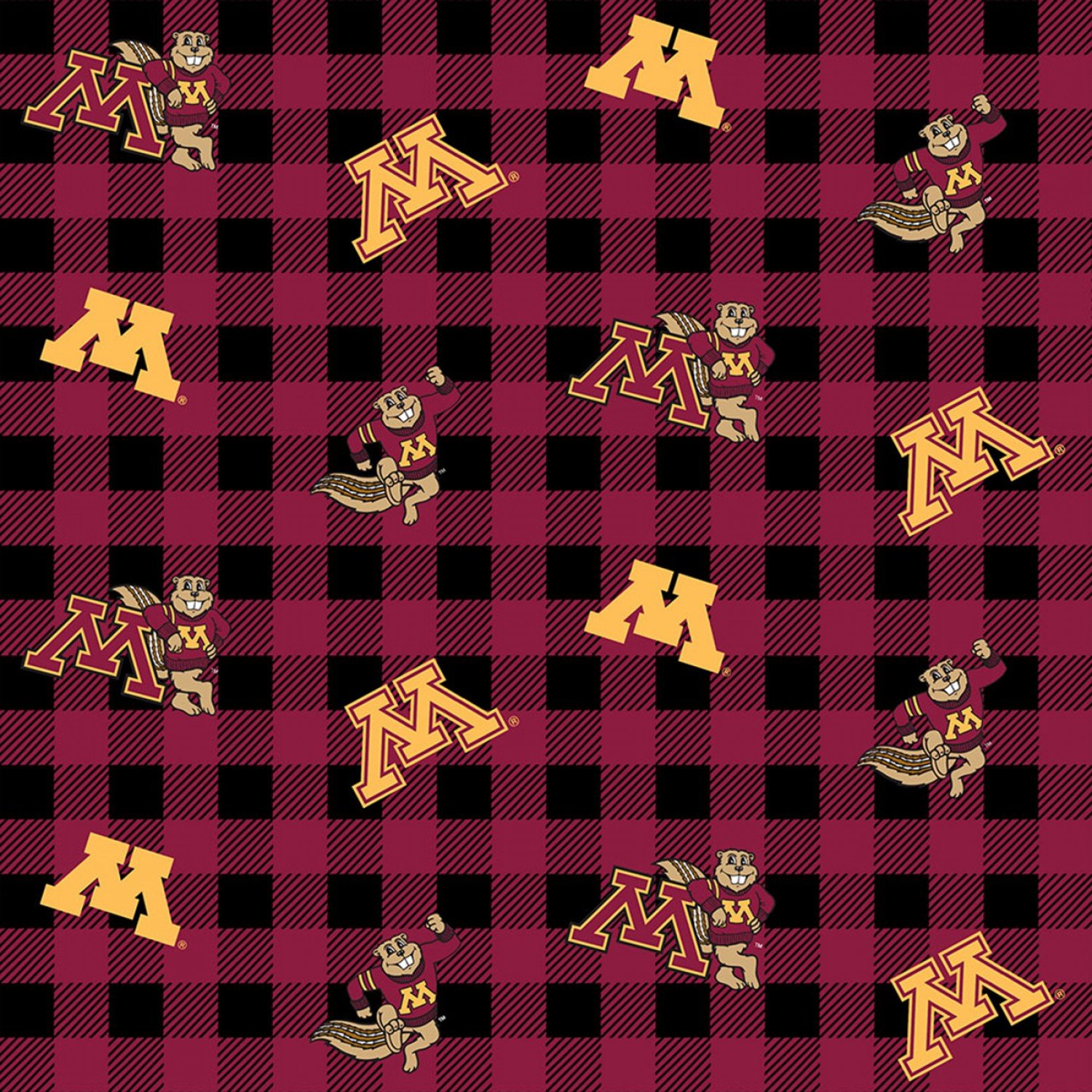 NCAA Minnesota Gophers 1207 Buffalo Plaid