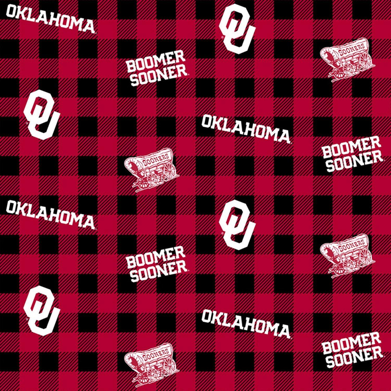 NCAA Oklahoma Sooners 1207 Buffalo Plaid