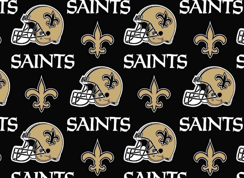 NFL Logo New Orleans Saints 6283 Black