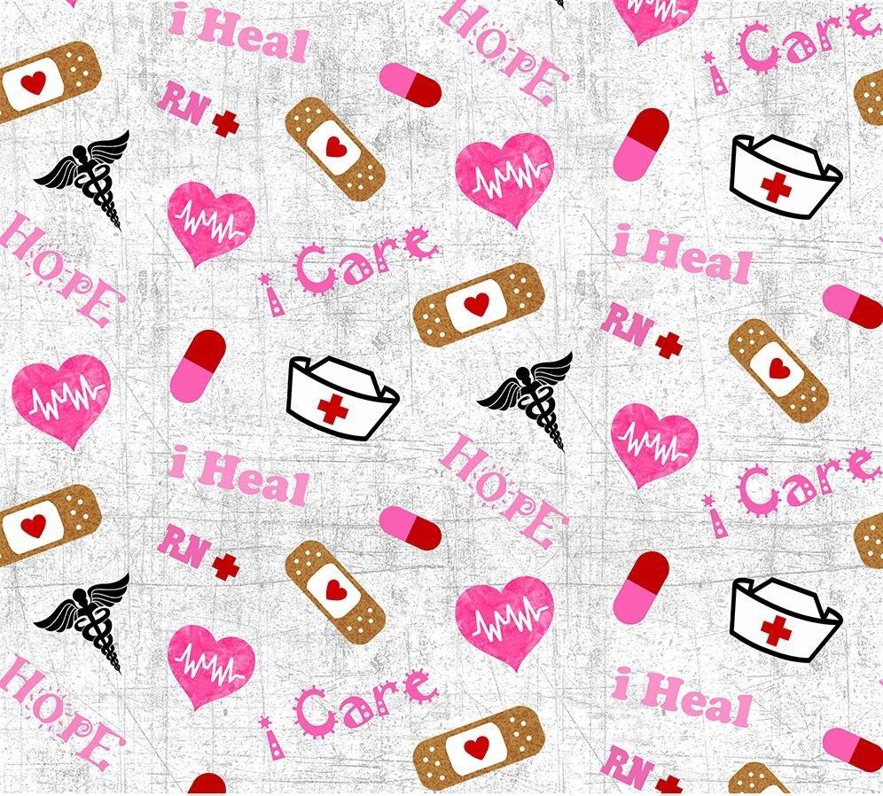 Nurse Words 10302 Grey Pink
